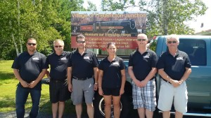Council & Staff L to R - Kirk Mowry, John Bigger, James Webb, Cindy Ogden, Gary Mersereau, Mark Mersereau (Missing Lonnie Daley